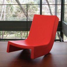 Twist - Slide rocking armchair in polyethylene, different colours, also for garden
