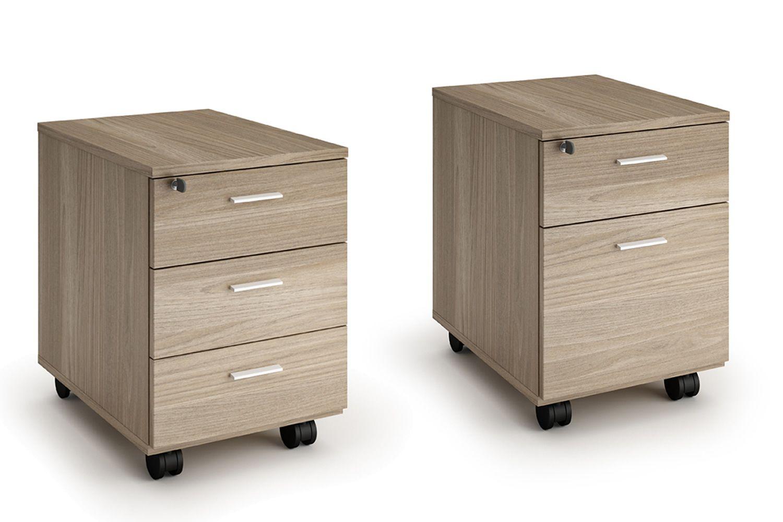 Cassettiera wood cassettiera per ufficio in laminato for Cassettiere ufficio