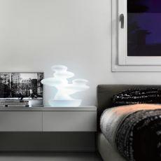 Bonsai - Complemento de design - lámpara de mesa en tecnopolímero, disponible en varios colores, para exteriores