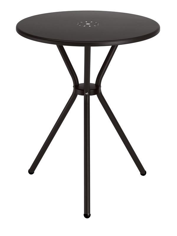 Leo 2721 pour bars et restaurants table bar en m tal for Table exterieur 50 cm