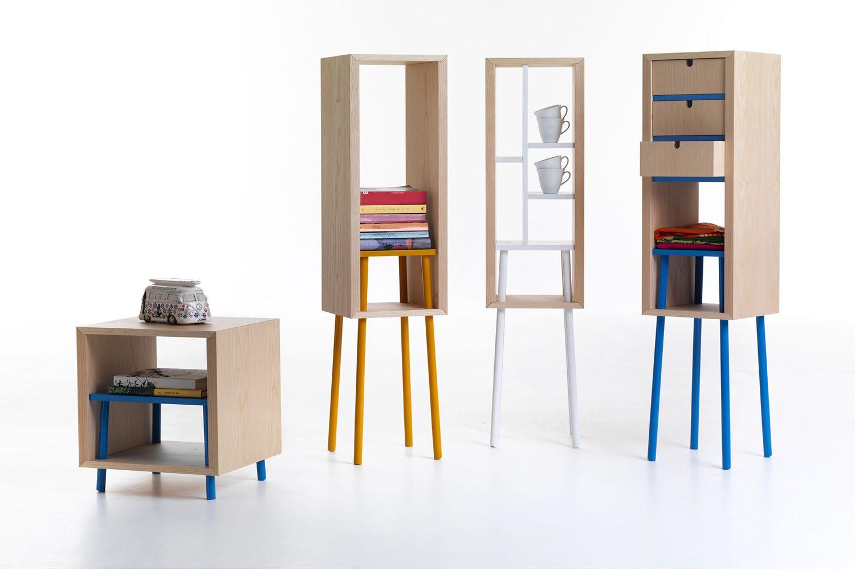 Obi: Möbel/Behälter Valsecchi aus Furnierholz, in verschiedenen ...