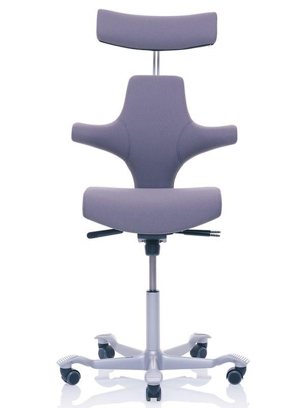 great capisco sedia ergonomica per ufficio con poggiatesta with sedia ergonomica. Black Bedroom Furniture Sets. Home Design Ideas
