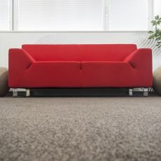Asso - Sofa for waiting room, with 1, 2 or 3 seater, different coatings available