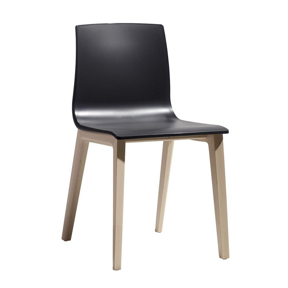 Smilla tec 2841 sedia moderna in legno di faggio con for Sedia academy w