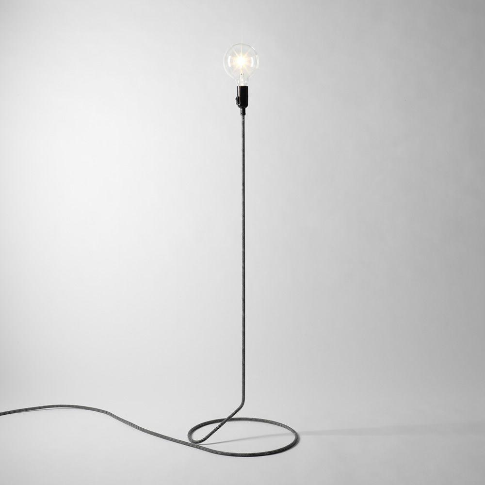 cord lampe design poser au sol c ble en acier rev tu. Black Bedroom Furniture Sets. Home Design Ideas