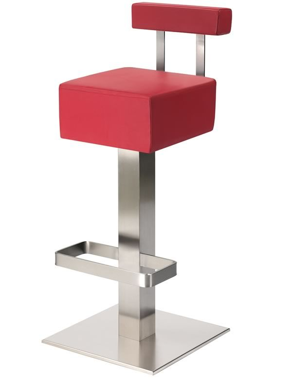 Hx 4448 taburete alto pedrali de metal fijo con asiento - Asientos para taburetes ...