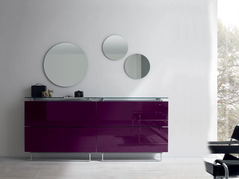 Hosoi 192 mueble de entrada zapatero con 2 espejos for Zapatero entrada espejo
