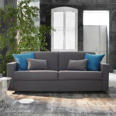 Leo S - 3 seaters sofa-bed, removable covering