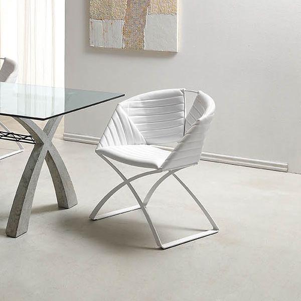 portofino stuhl midj aus metall sitz mit leder kunstleder oder stoff bezogen verschiedene. Black Bedroom Furniture Sets. Home Design Ideas