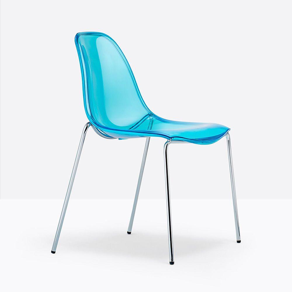 day dream 405 stuhl pedrali aus metall und polycarbonat. Black Bedroom Furniture Sets. Home Design Ideas