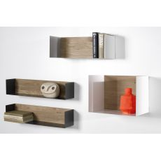 U - Universo Positivo wall shelf made of wood and metal, different colours and sizes available