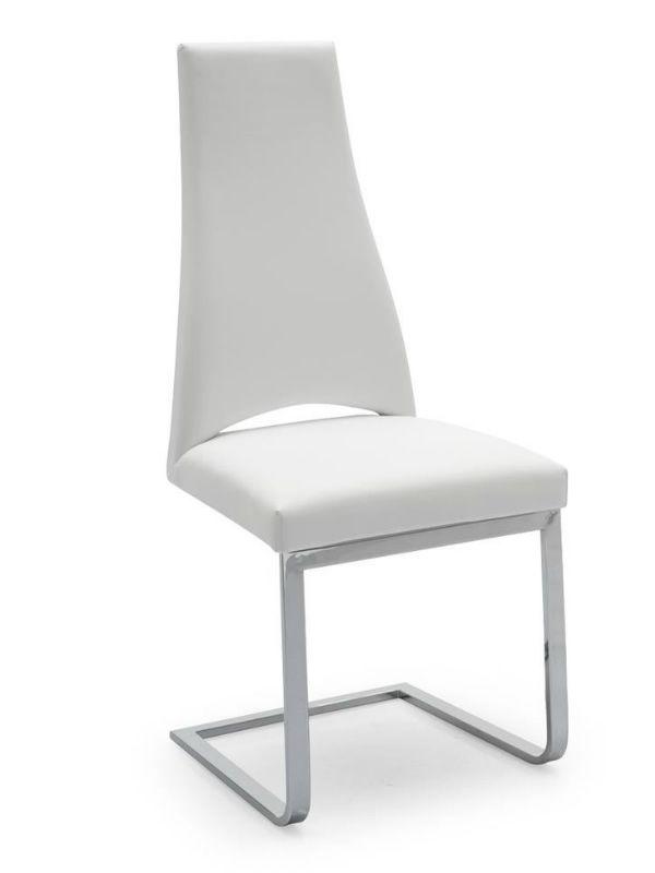 Cs1380 lh juliet chaise calligaris en m tal avec - Chaise en cuir blanc ...