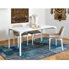 Armando-A - Midj extendable metal table with metal or melamine top, top 160 X 100 cm