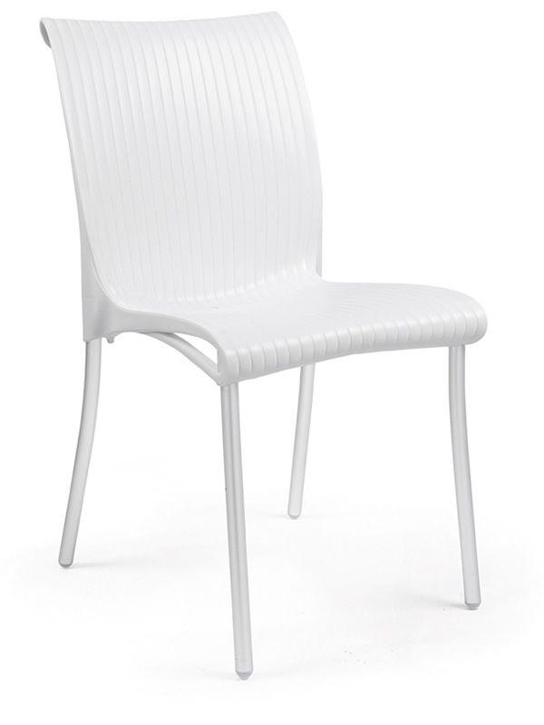 Regina chaise en m tal et r sine empilable diff rentes couleurs aussi pou - Chaise resine blanche ...