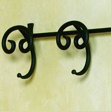 Senna - Coat rack for wall, made of wrought-iron, with 2 or 4 pegs, several colours