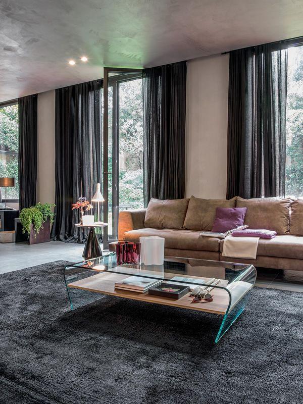 Table Basse En Bois Ou Verre : : Table basse Tonin Casa en verre avec étagère en bois ou verre, en ...