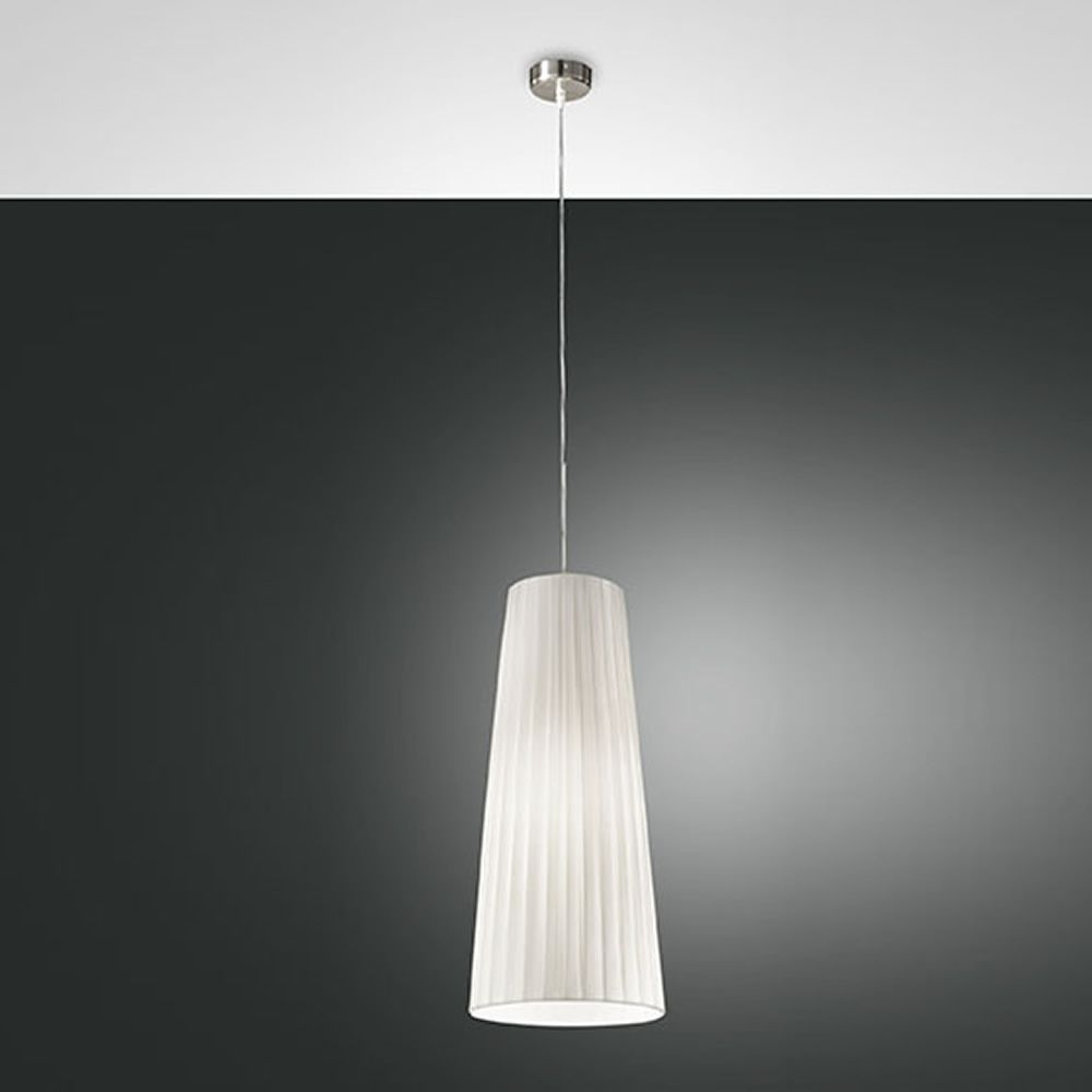fa2960s lampe suspension en m tal et tissu en diff rentes dimensions sediarreda. Black Bedroom Furniture Sets. Home Design Ideas