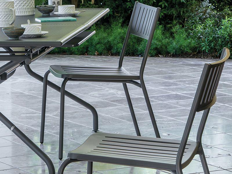Bridge sedia emu in metallo per giardino impilabile sediarreda