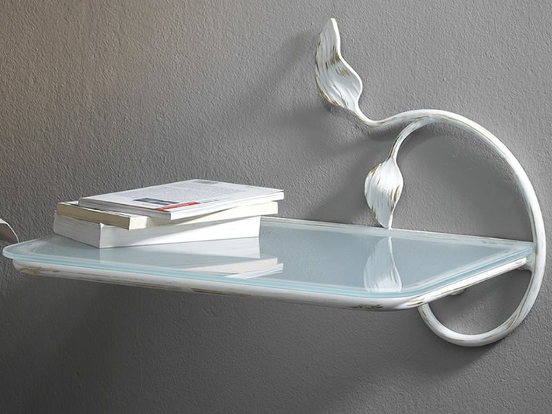 anita table de nuit suspendue en fer avec tablette en. Black Bedroom Furniture Sets. Home Design Ideas