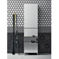 Linear - Mueble de entrada-zapatero con puertas espejos, varios colores