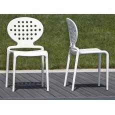 Colette 2283 - Sedia moderna in tecnopolimero di diversi colori, impilabile, anche per esterno