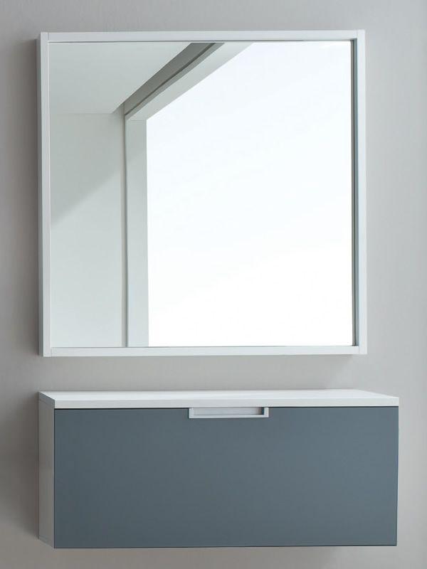 xl50 - mobile ingresso sospeso-scarpiera, diversi colori - sediarreda - Mobili Ingresso Bianco Lucido