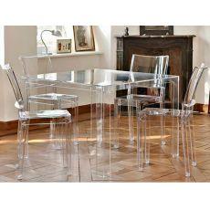 Tavoli in plastica destinazione design e colore sediarreda for Tavolo kartell rotondo