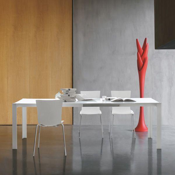 Smart 8066 tavolo tonin casa in alluminio con piano in for Tavolo vetro opaco