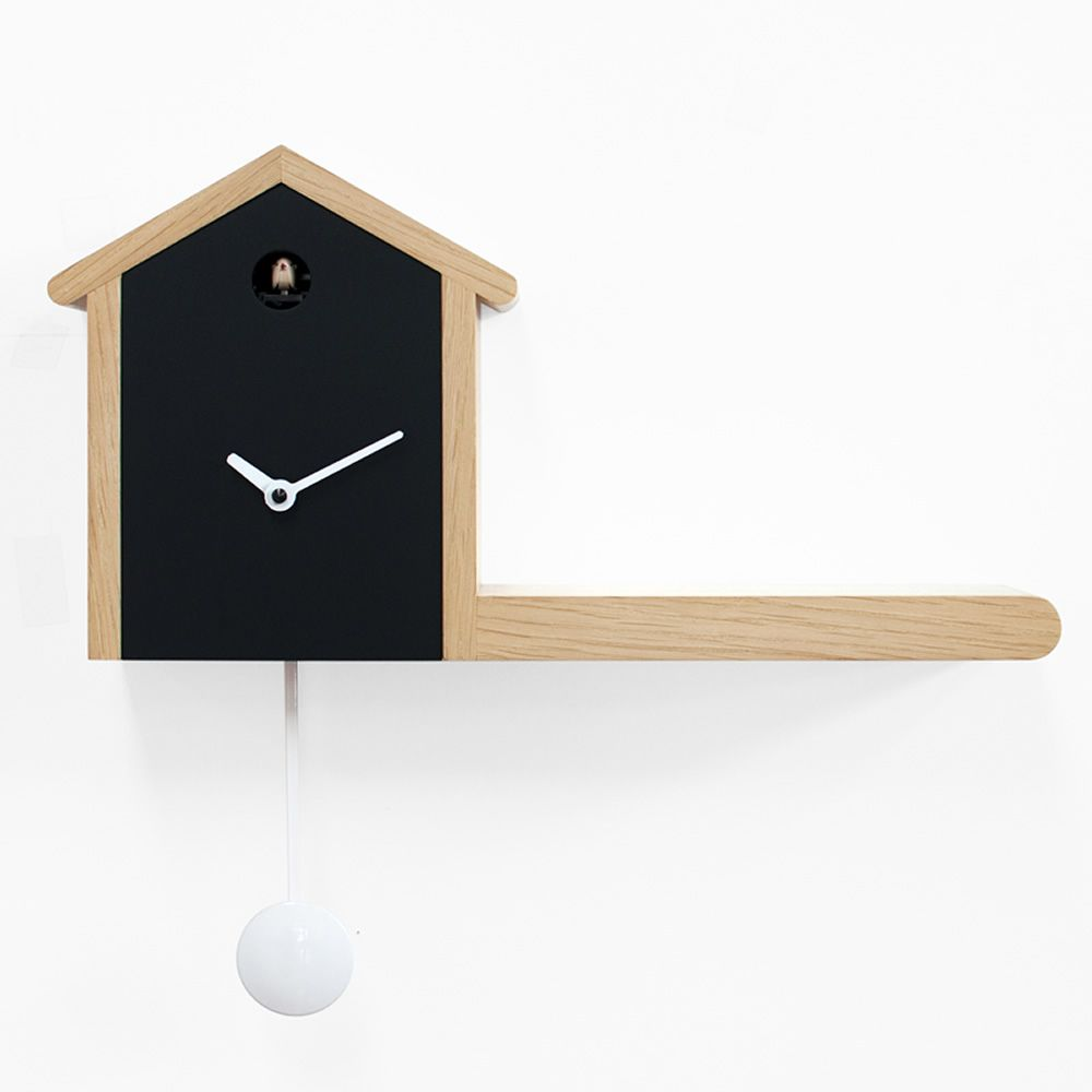 My house cuckoo wall clock made of wood with pendulum two different finishes sediarreda - Cuckoo pendulum wall clock ...