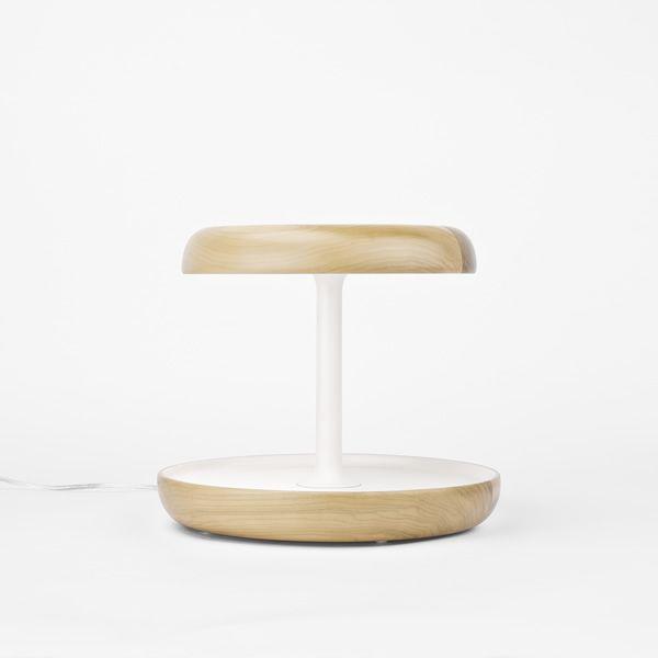 ciotole led tischlampe aus holz mit touch funktion und taschenentleerer sediarreda. Black Bedroom Furniture Sets. Home Design Ideas