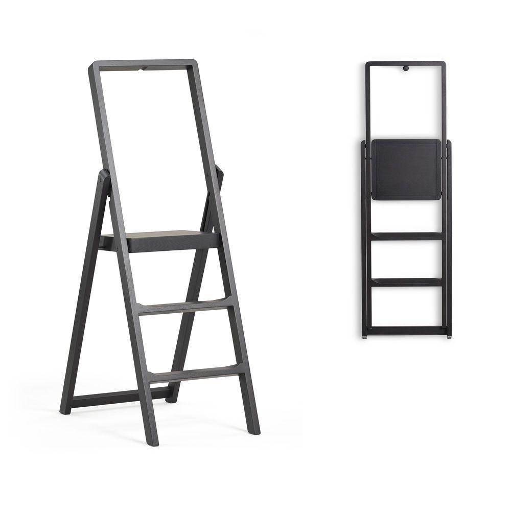 step escabeau 3 marches en bois sediarreda. Black Bedroom Furniture Sets. Home Design Ideas