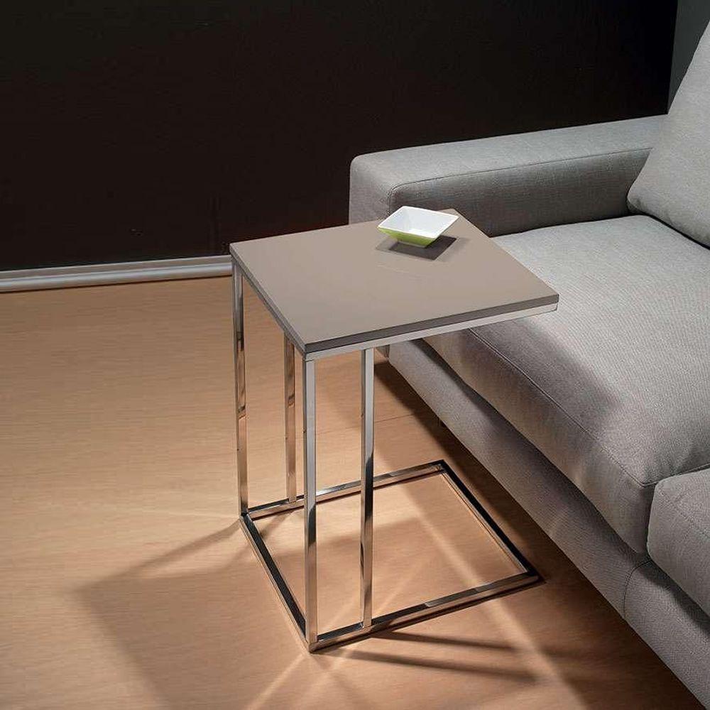 lamina beistelltisch aus metall mit tischplatte aus. Black Bedroom Furniture Sets. Home Design Ideas