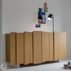 stripe s buffet dall 39 agnese en contreplaqu et en m tal disponible dans diff rentes couleurs. Black Bedroom Furniture Sets. Home Design Ideas