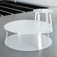 Freeline2 - Tavolo basso rotondo di design in metallo, disponibile in diversi colori