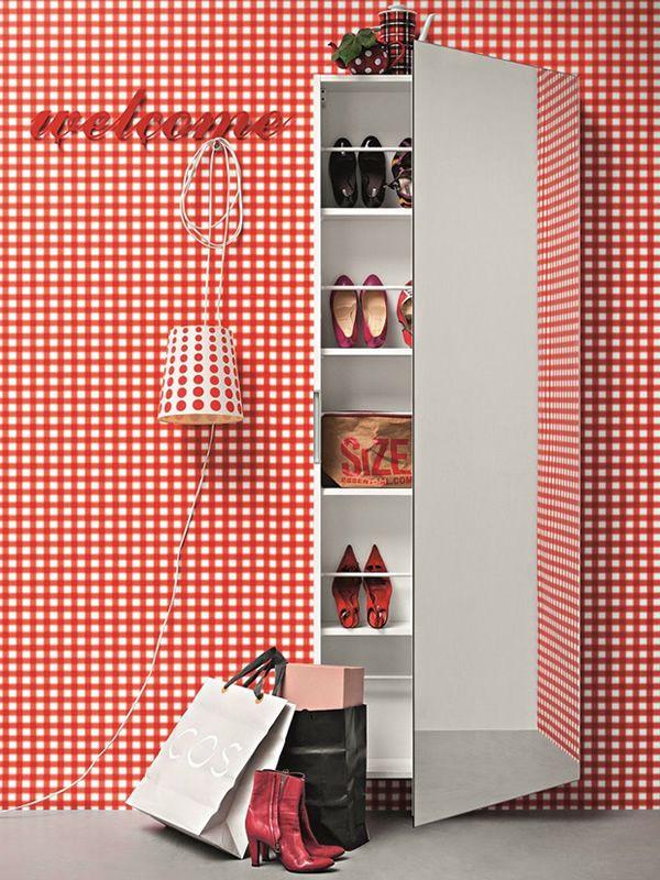 Welcome mobile ingresso scarpiera con anta specchio disponibile in diversi colori sediarreda - Colori a specchio ...