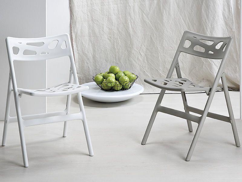 Vr15 sedia pieghevole in polipropilene disponibile in - Sabbia per giardino ...