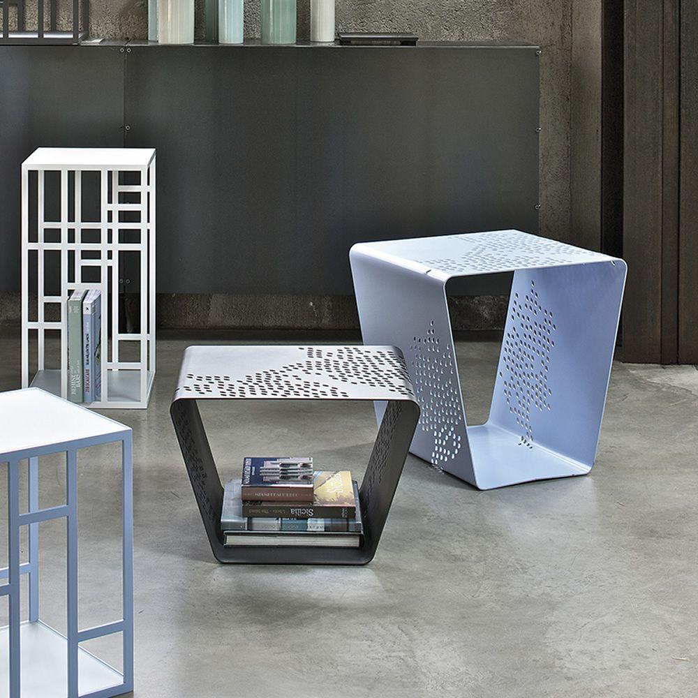 Pattern tavolino di desing bontempi casa in metallo for Table structure design