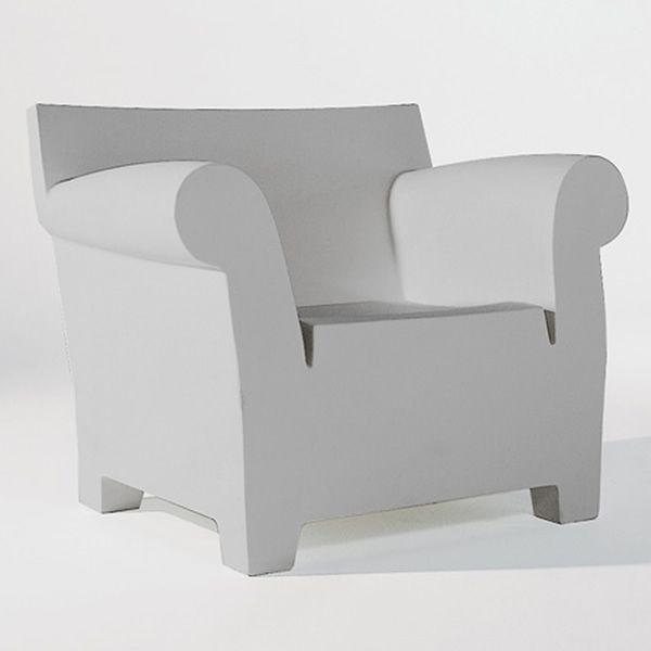 Lovely Bubble Club Armchair   Kartell Design Armchair, Grey Polythylene ...