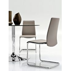 CB1010 Swing - Silla Connubia - Calligaris de metal, asiento en cuero, en distintos colores