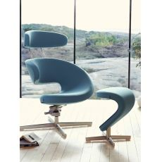 Peel™ Metal - Poltrona design ergonomica con poggiapiedi Peel™, disponibile in diversi colori