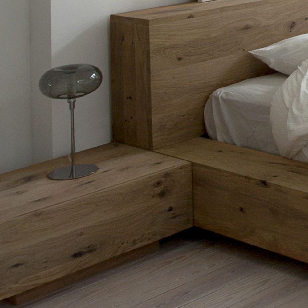madra n table de chevet ethnicraft en bois avec tiroir sediarreda. Black Bedroom Furniture Sets. Home Design Ideas