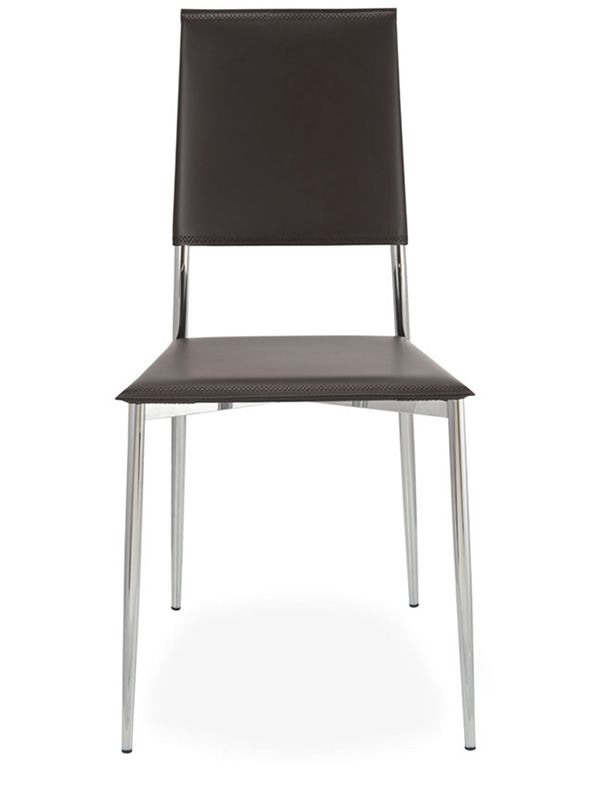 Rosa sedia moderna seduta in rigenerato di cuoio for Sedia rosa