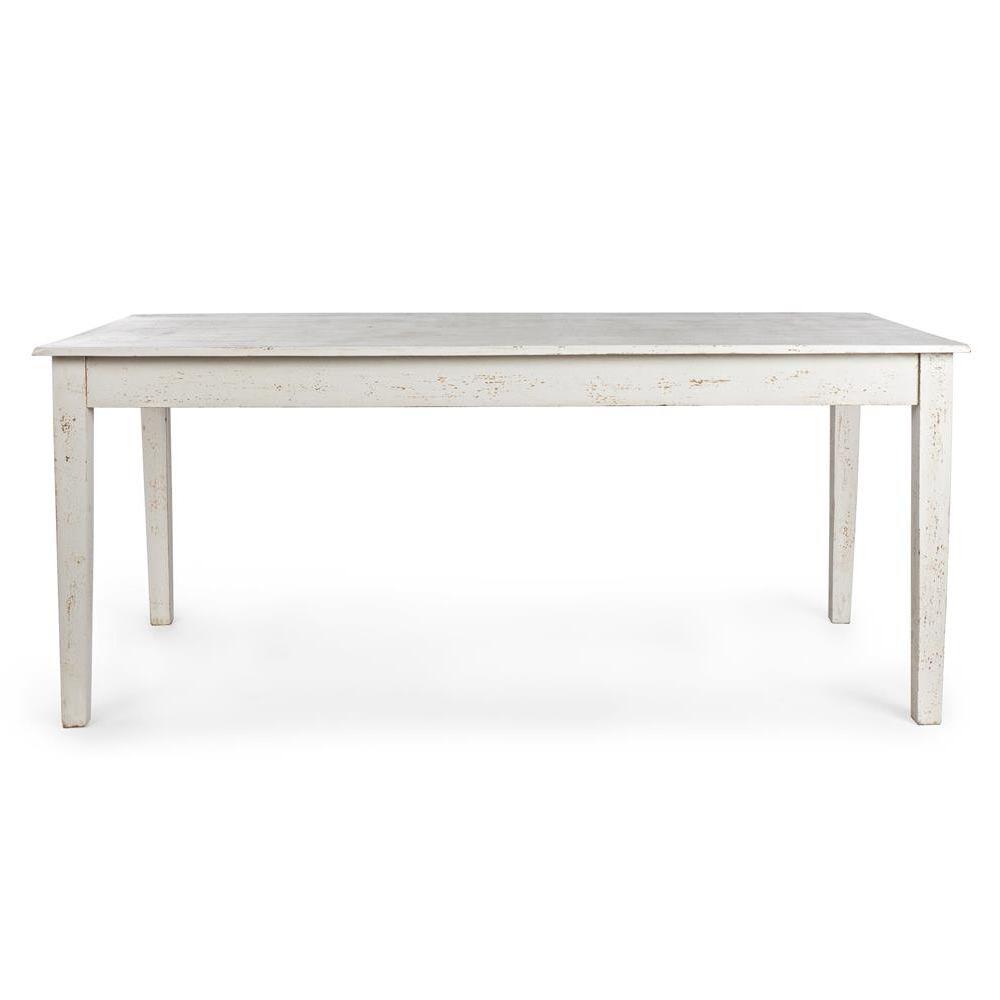 Costanzo tavolo shabby chic in legno fisso 180x90 cm - Tavolo bianco shabby chic ...