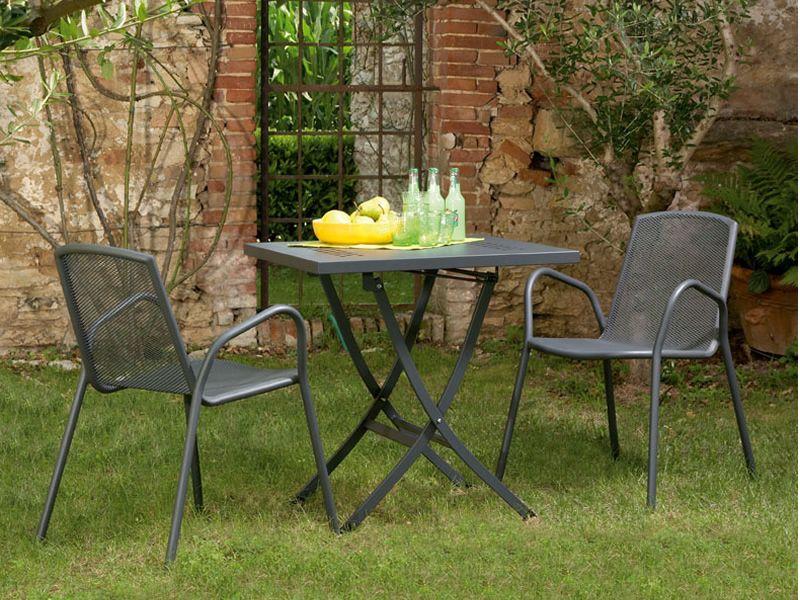 Rig73 table en m tal pliante disponible en diff rentes dimensions id ale pour le jardin - Table jardin couleur rennes ...