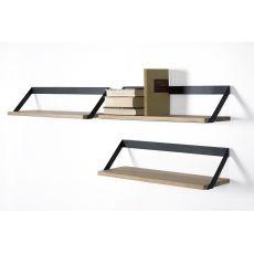 Ribbon - Universo Positivo wall shelf made of wood and metal