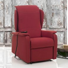 Bucaneve - Electric and adjustable relax armchair, different upholsteries and colours available, totally removable covering, also with Roller system and massage kit