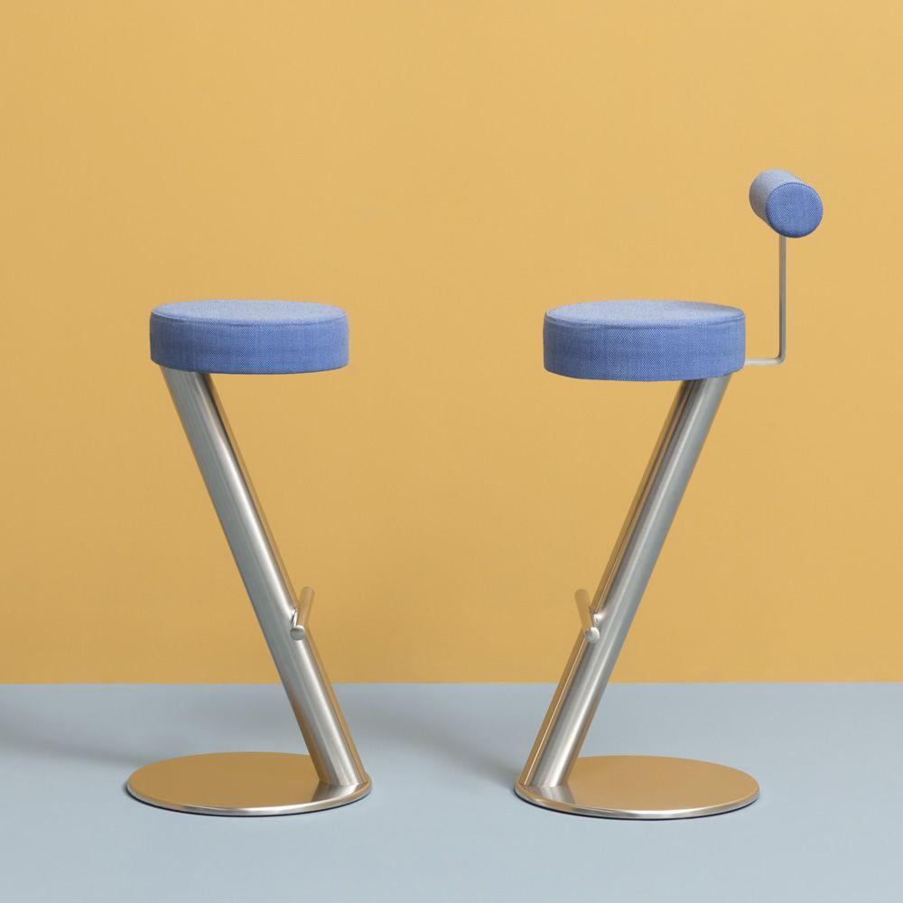 zx 4478 pour bars et restaurants tabouret haut de bar en metal dossier et assise rembourr s. Black Bedroom Furniture Sets. Home Design Ideas
