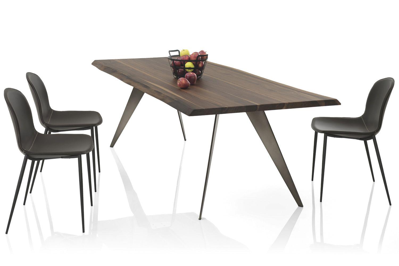 Ramos tavolo di design di bontempi casa 200 x 106 cm fisso con struttura in metallo e piano - Dimensioni tavolo biliardo casa ...