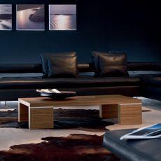 Brent 6796 - Tavolino rettangolare Tonin Casa in legno, diverse finiture disponibili disponibili