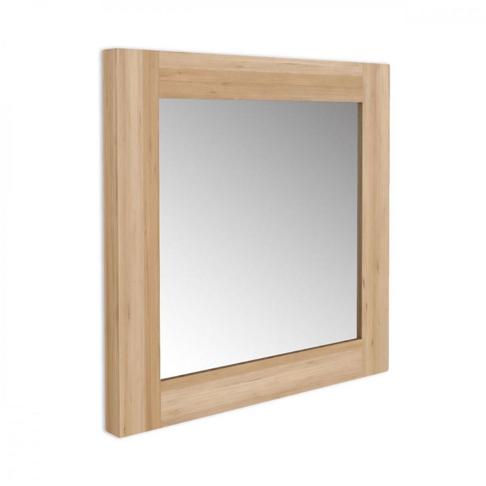 Utilitle m specchio da parete ethnicraft con cornice in - Specchio in legno ...